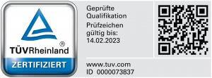TÜV-Zertifikat Markus von Marées